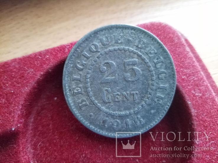 25 centow  1916 Belgia Okupacja Niemiecka!