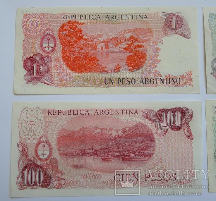 1, 10, 100, 500 Pesos Аргентина., photo number 6