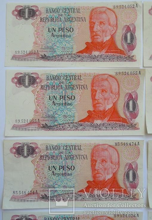 1 Песо Аргентина - 10 штук ., photo number 3