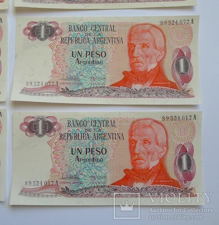 1 Песо Аргентина - 10 штук ., photo number 6