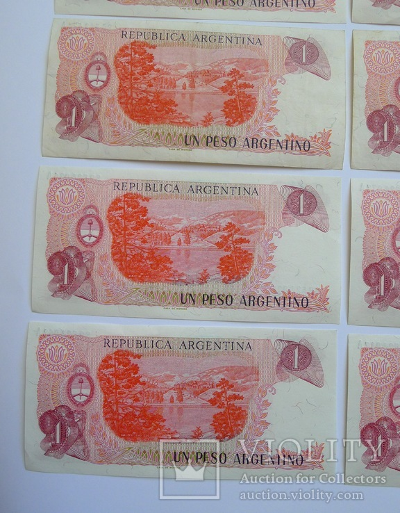 1 Песо Аргентина - 10 штук ., photo number 9