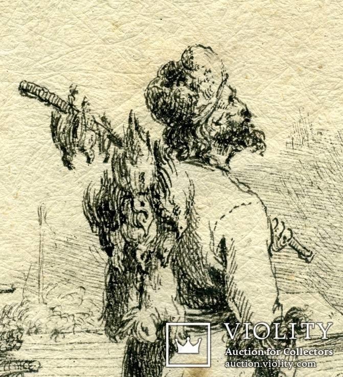 Эскизы тушью к гравюрам? середина 18 века. Жан Батист Лепренс, фото №6