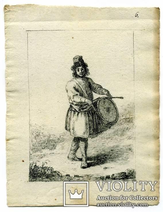 Эскизы тушью к гравюрам? середина 18 века. Жан Батист Лепренс, фото №7