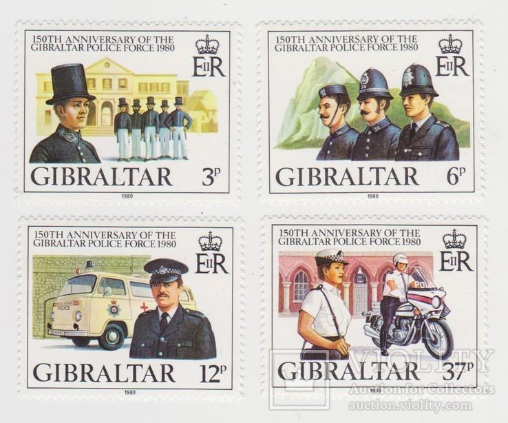Марки Гибралтара 4 шт.