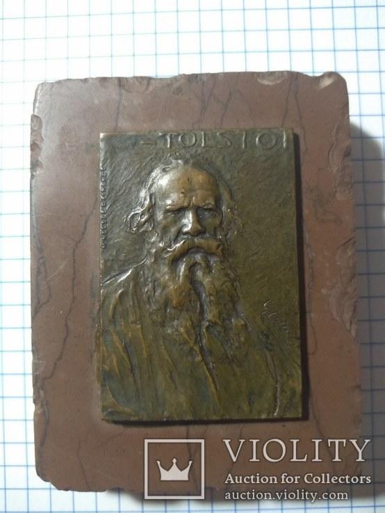 Плакета в память графа Л.Н.Толстого. Италия, Флоренция, начало XX в.