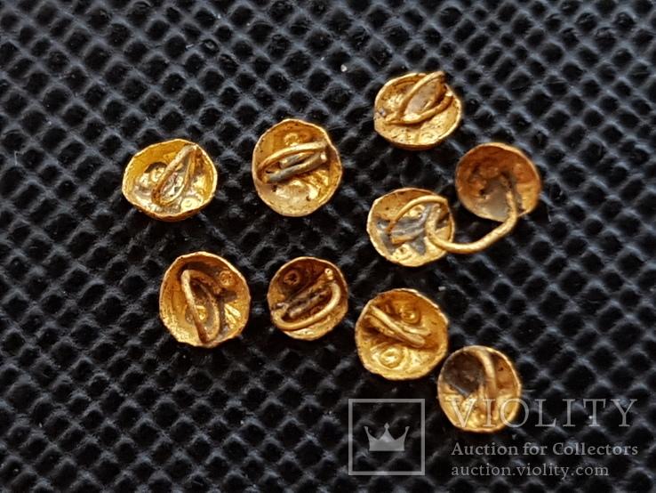 Скифские золотые нашивки - Сова  9шт