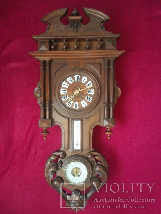 Japy Freres & Cie Beaucourt XIX век с барометром и термометром