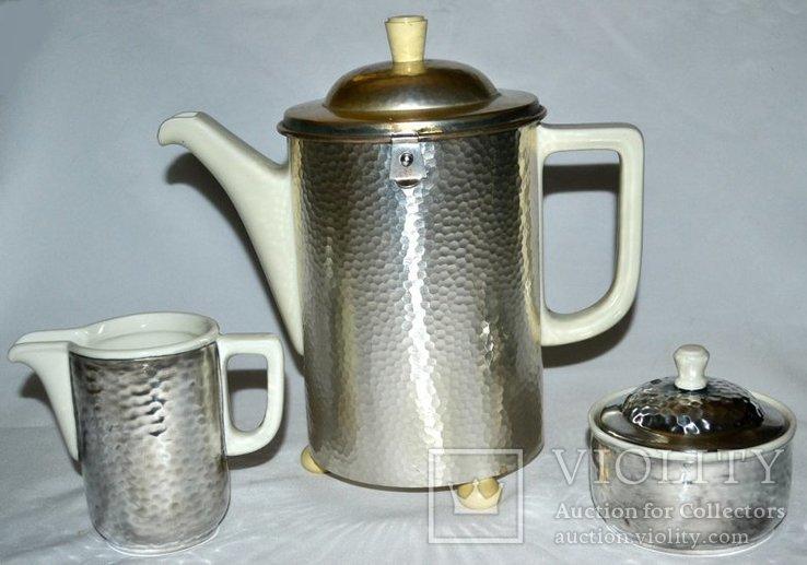 Кофейник,молочник,сахарница, в термокапсусе., фото №2