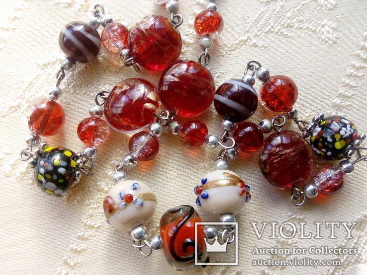 Венецианские бусы  Rosse, фото №10