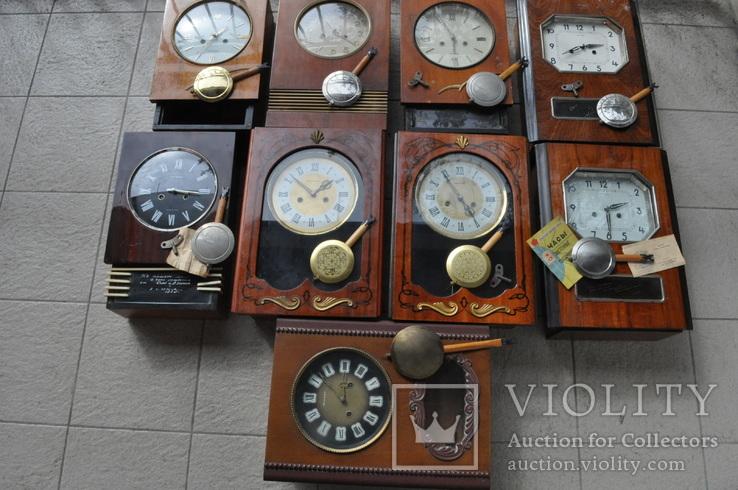 Часы настенные Янтарь с боем 9 шт.одним лотом.