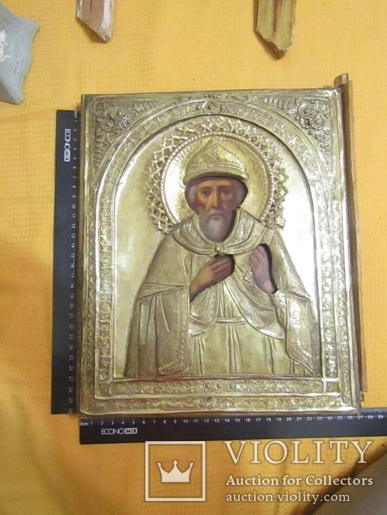 Икона Святого Владимира, в латунном окладе