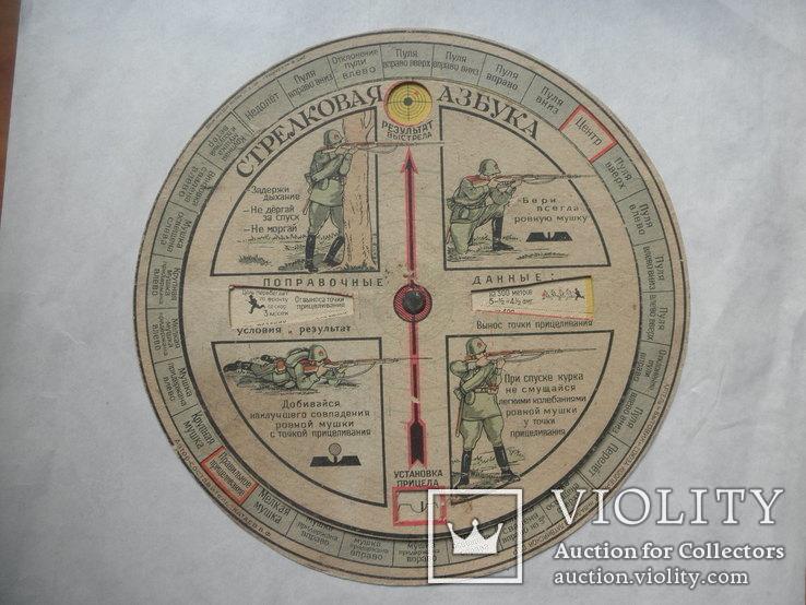 Стрелковая азбука, артель бытовик. Автор: Катаев. В. Ф. Диаметр 18,5 см.