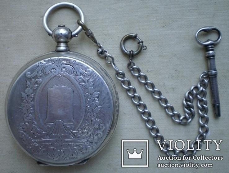 Карманные серебряные часы Георг Жако Локль