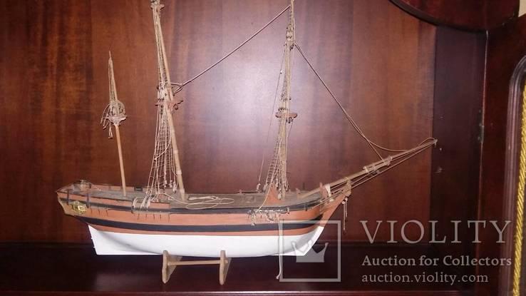 Деревянная модель паруснтка Баунти, фото №3