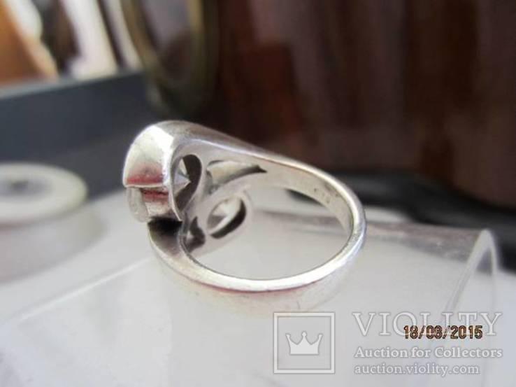 Необычное кольцо с кристаллами серебро 925 12.53 gr, фото №4
