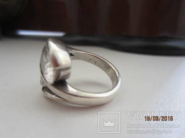Необычное кольцо с кристаллами серебро 925 12.53 gr, фото №7