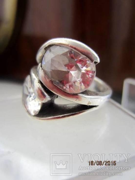 Необычное кольцо с кристаллами серебро 925 12.53 gr, фото №8