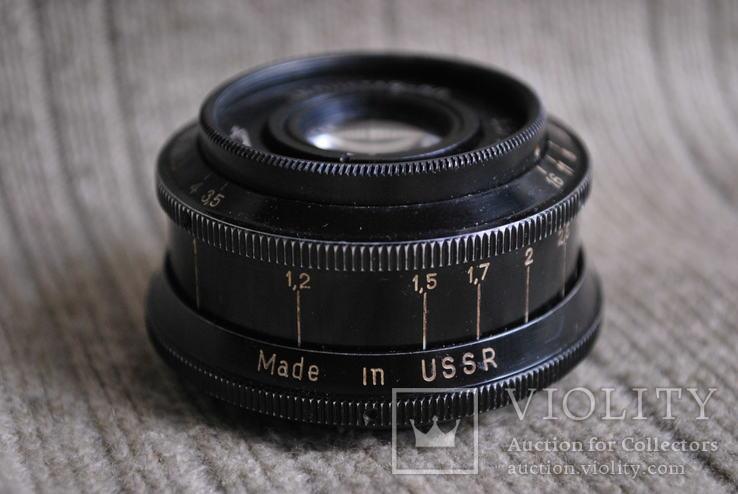 Чёрный, Индустар - 50 3,5/50 мм, м.39, 50 лет Октябрьской Реводюции 1917-1967 №5., фото №4