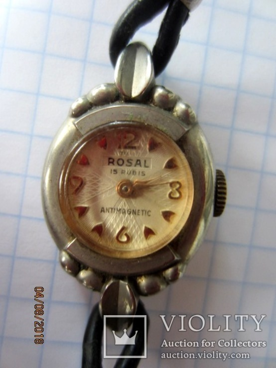 Винтажный часы Rosal 15 jewels Швейцария, фото №3