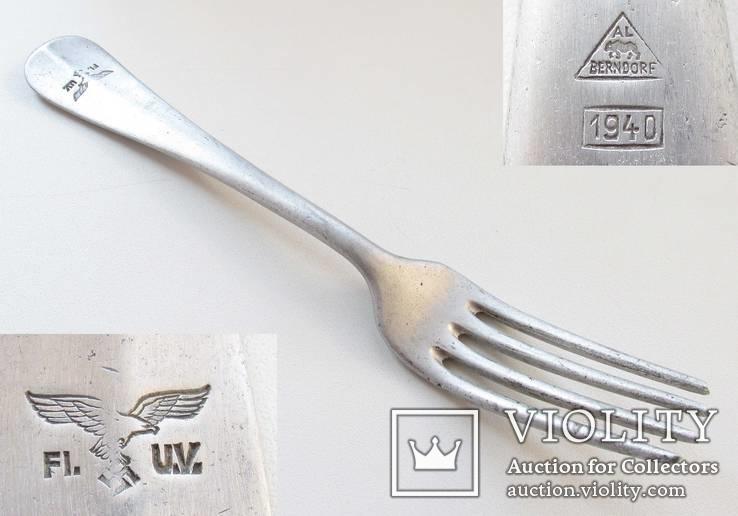 III REICH вилка Люфтваффе Luftwaffe 1940 года алюминий., фото №2