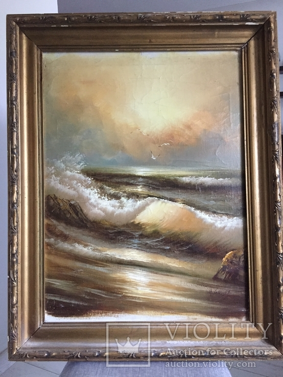 Картина Море. Холст, дерево, масло. 67*51.