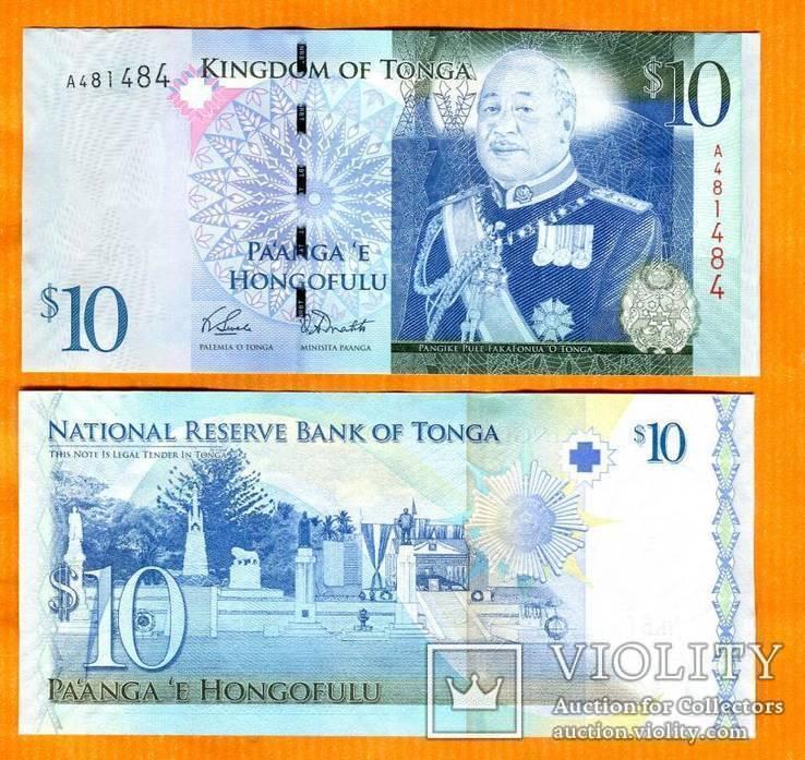 Тонга 10 паанга 2008 UNC ПРЕСС