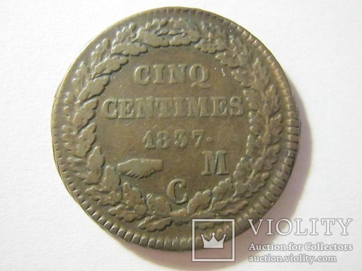 5 сентим 1837 Монако