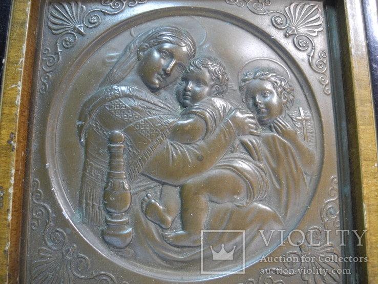 Старинный Медный Барельеф Европа, фото №4