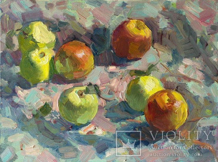 Натюрморт с яблоками. 30.5 х 40.6 см. Холст, масло.