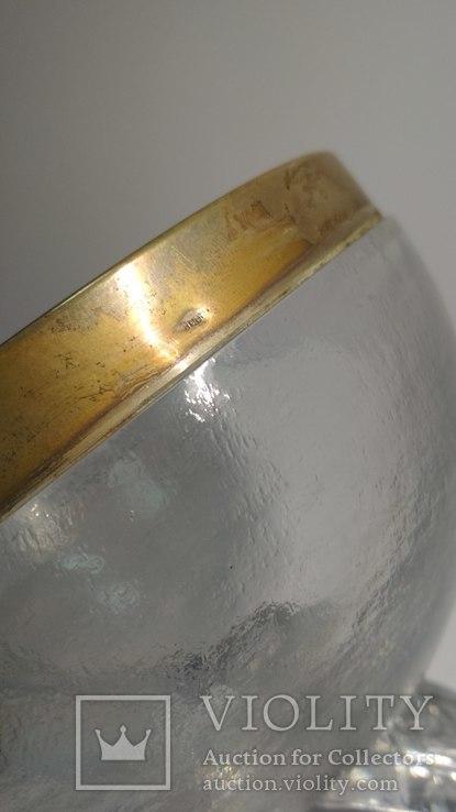 Ваза хрусталь, серебро, Европа,арт деко, фото №6
