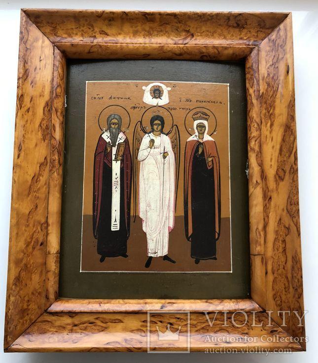 """Икона """"Священномученик Антипа,Ангел Хранитель,Священномученица Параскева"""", фото №8"""