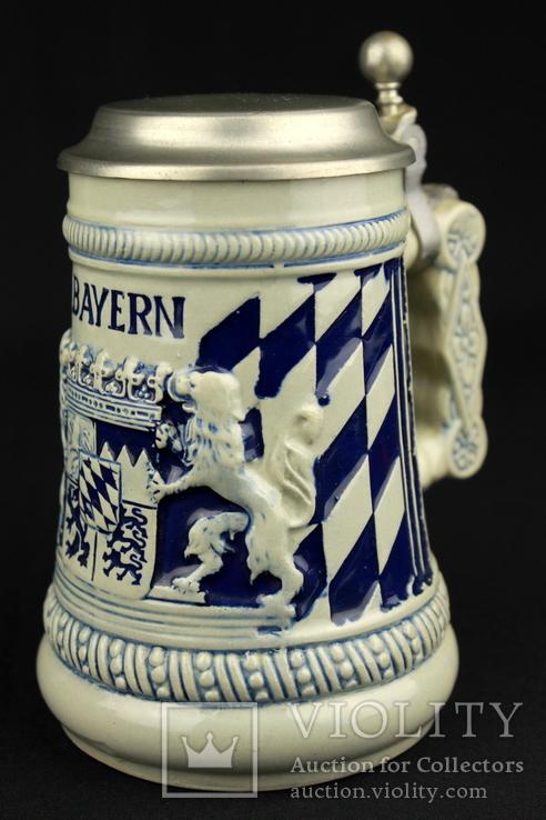 Коллекционная пивная кружка. Bayern. Ручная работа. Германия. (0751)