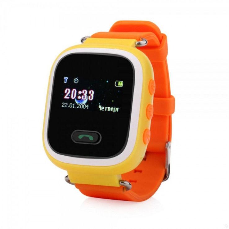 Детские умные часы Smart Baby Watch Q60s Трекер оранжевые