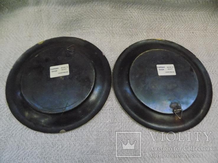 Вінтажні настінні латунні тарілки з Єгипту ручної роботи, фото №5