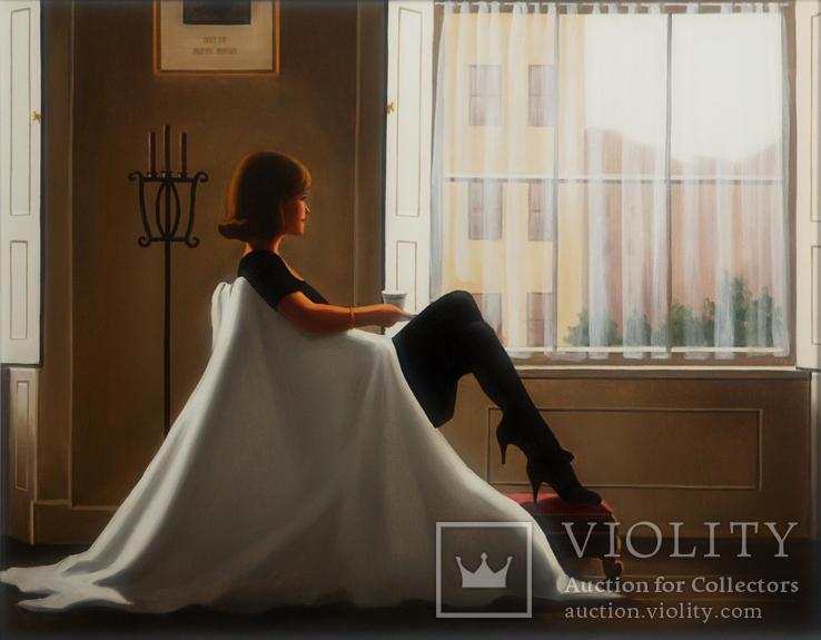 Картина маслом на холсте ′В мыслях о тебе′ 2006 г, фото №3
