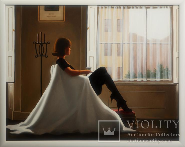 Картина маслом на холсте ′В мыслях о тебе′ 2006 г, фото №2