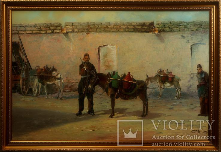 Картина маслом на холсте ′Водовоз′ 2005 г.