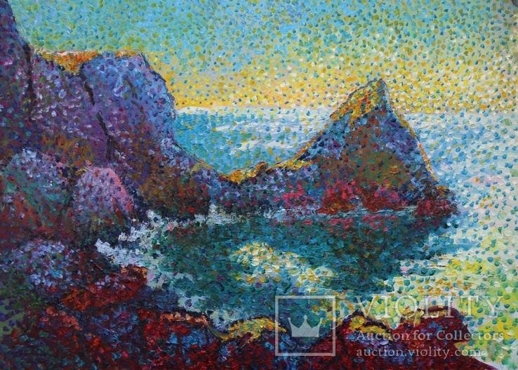Морские скалы. Холст. Масло 50х70