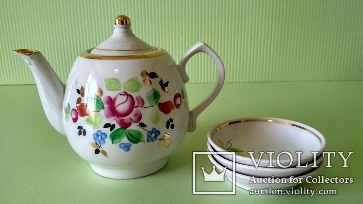 Чайник и блюдца советских времён, фото №2