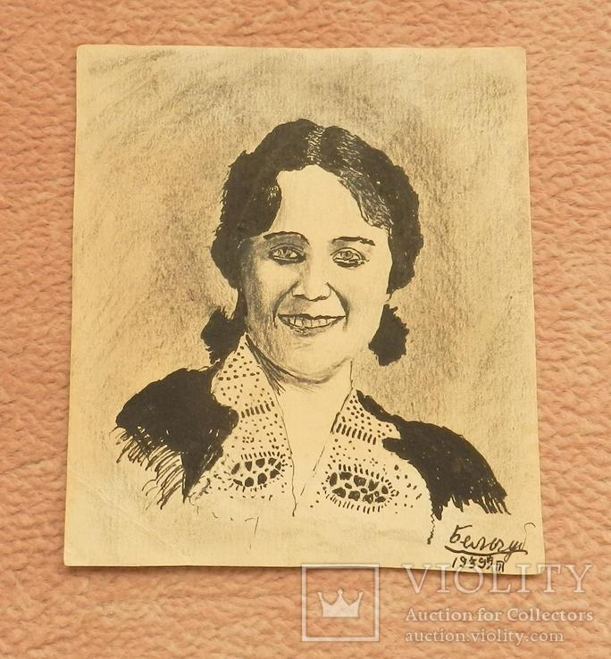 Портрет женщины 1939 г. Рисунок.