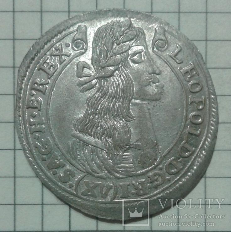 15 крейцерів Леопольда 1677р. (PATRONA HUNGARIE)