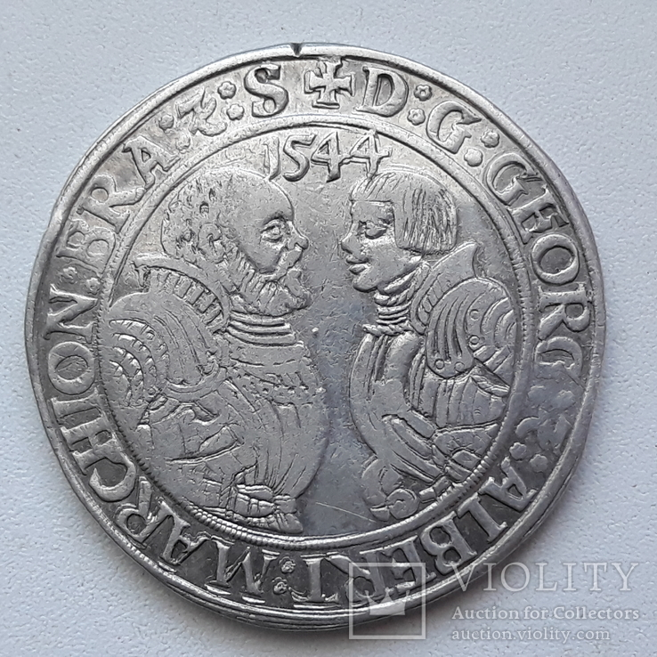 Талер 1544 г. Бранденбург-Франкония