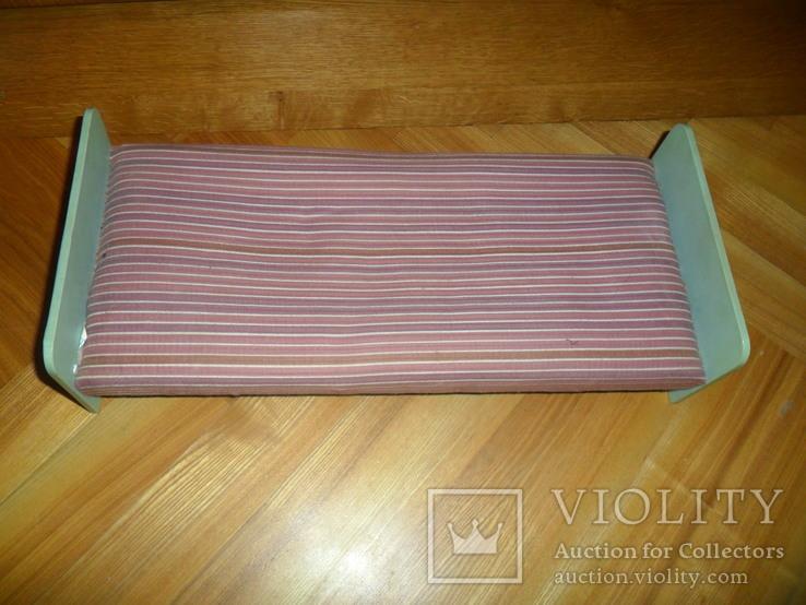 Кукольная кровать для куклы + подушки и др., фото №2