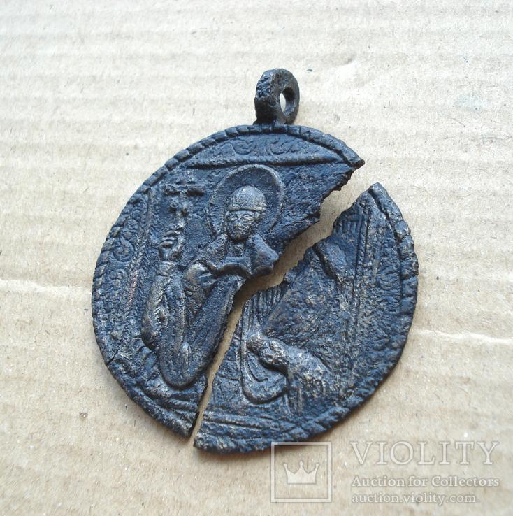 Медальон литой XVIII-XIX вв., фото №2