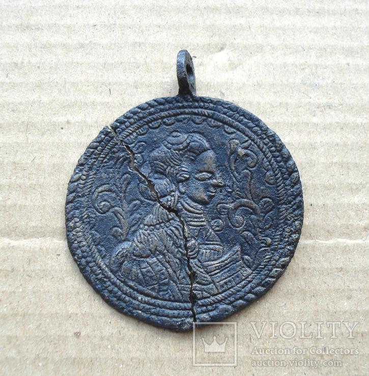 Медальон литой XVIII-XIX вв., фото №7