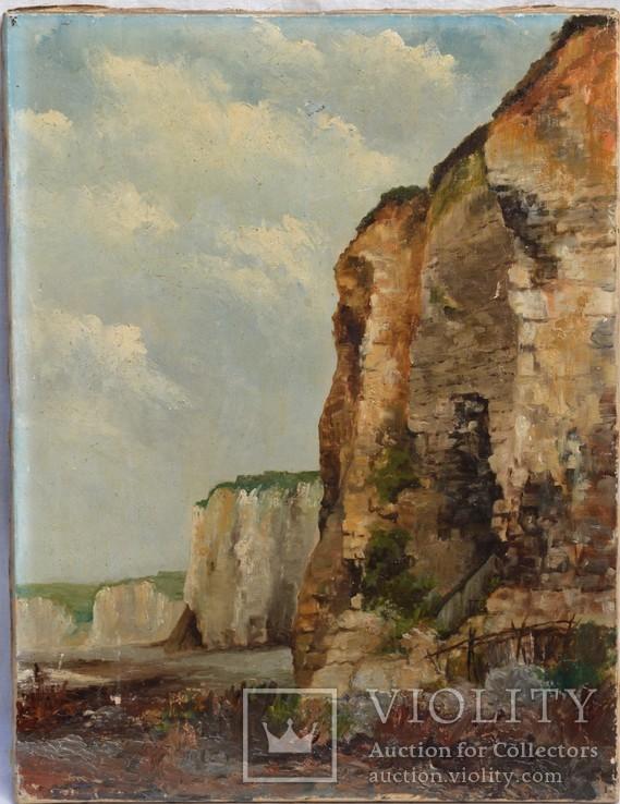 Картина Скалы, холст, масло, размер 65 х 50 см..