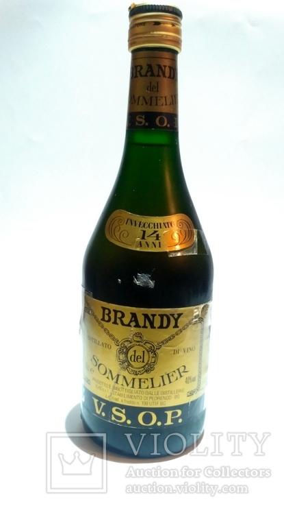 Brandy del sommelier v.s.o.p. 70cl. 40% vol 80-90s