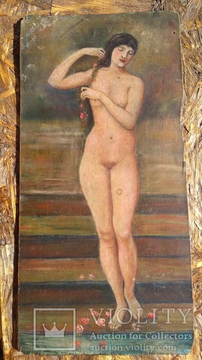 Старинный женский портрет, ню