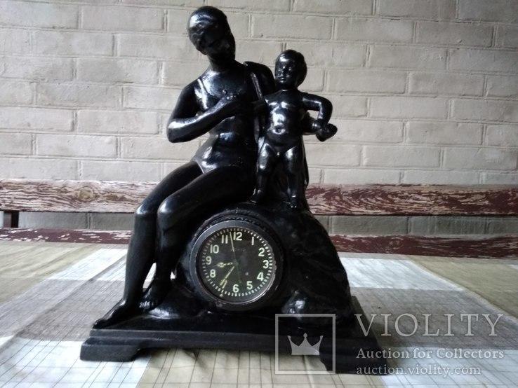 Часы каминные Материнство , Касли 1960 г.