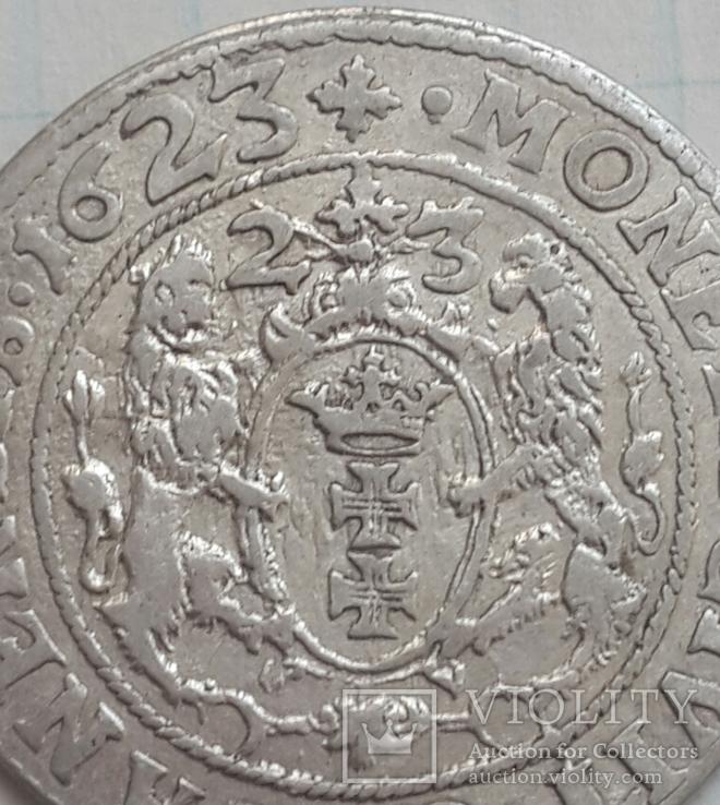 Гданьский орт Сигизмунда 3 с двойной датой 1623-23